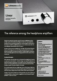 Linear < Home < Headphone Amplifiers < Lehmannaudio